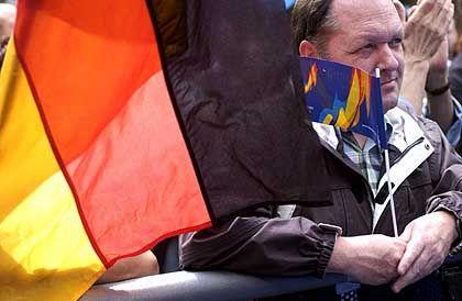 Kein Stich für den deutschen Kandidaten: Auf dem Nikolaikirchhof haderten die Leipziger mit der Entscheidung