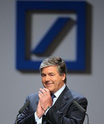 Ausreichend besichert: Deutsche-Bank-Primus Ackermann auf dem Frankfurter Bankenkongress