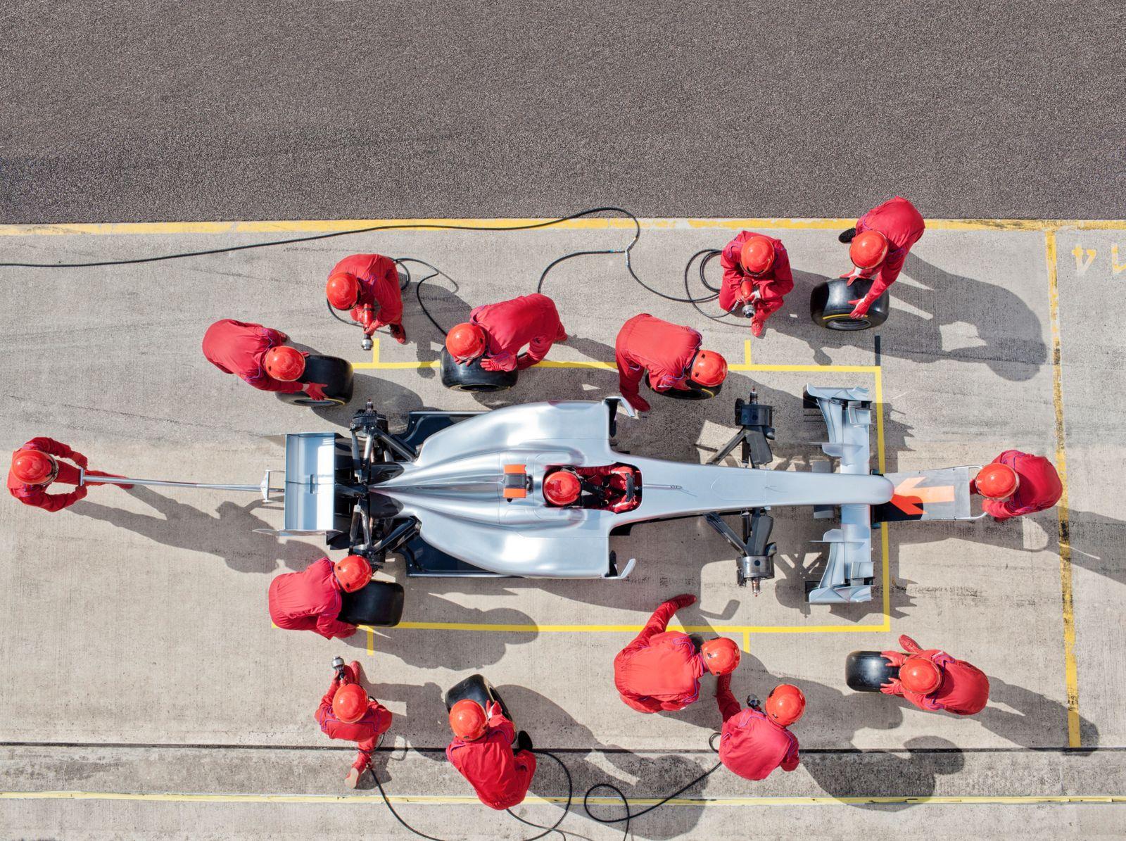 Rannauto / Formel1 / Boxenstopp
