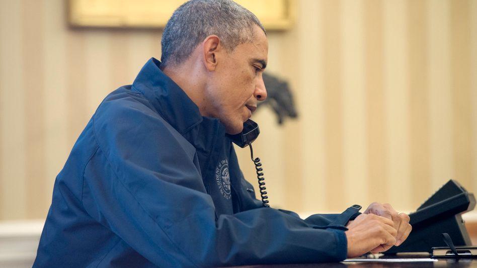 """US-Präsident Obama: Am Telefon drohte er Putin mit """"hohen Kosten"""" (Archivbild)"""