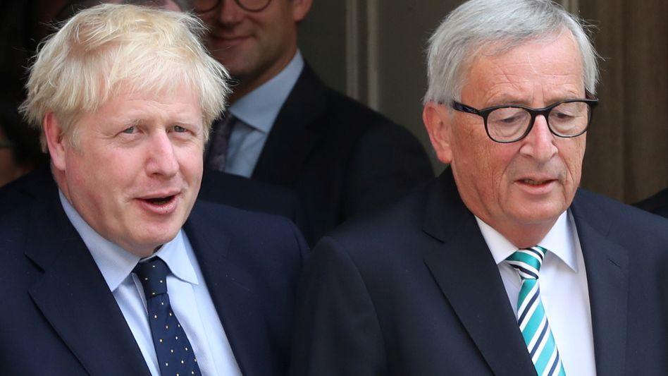 Keine Pressekonferenz: Großbritanniens Premier Boris Johnson and EU-Kommissionspräsident Jean-Claude Juncker hatten der Öffentlichkeit nichts mitzuteilen. Von einer Annäherung konnte im Brexit-Konflikt auch keine Rede sein.