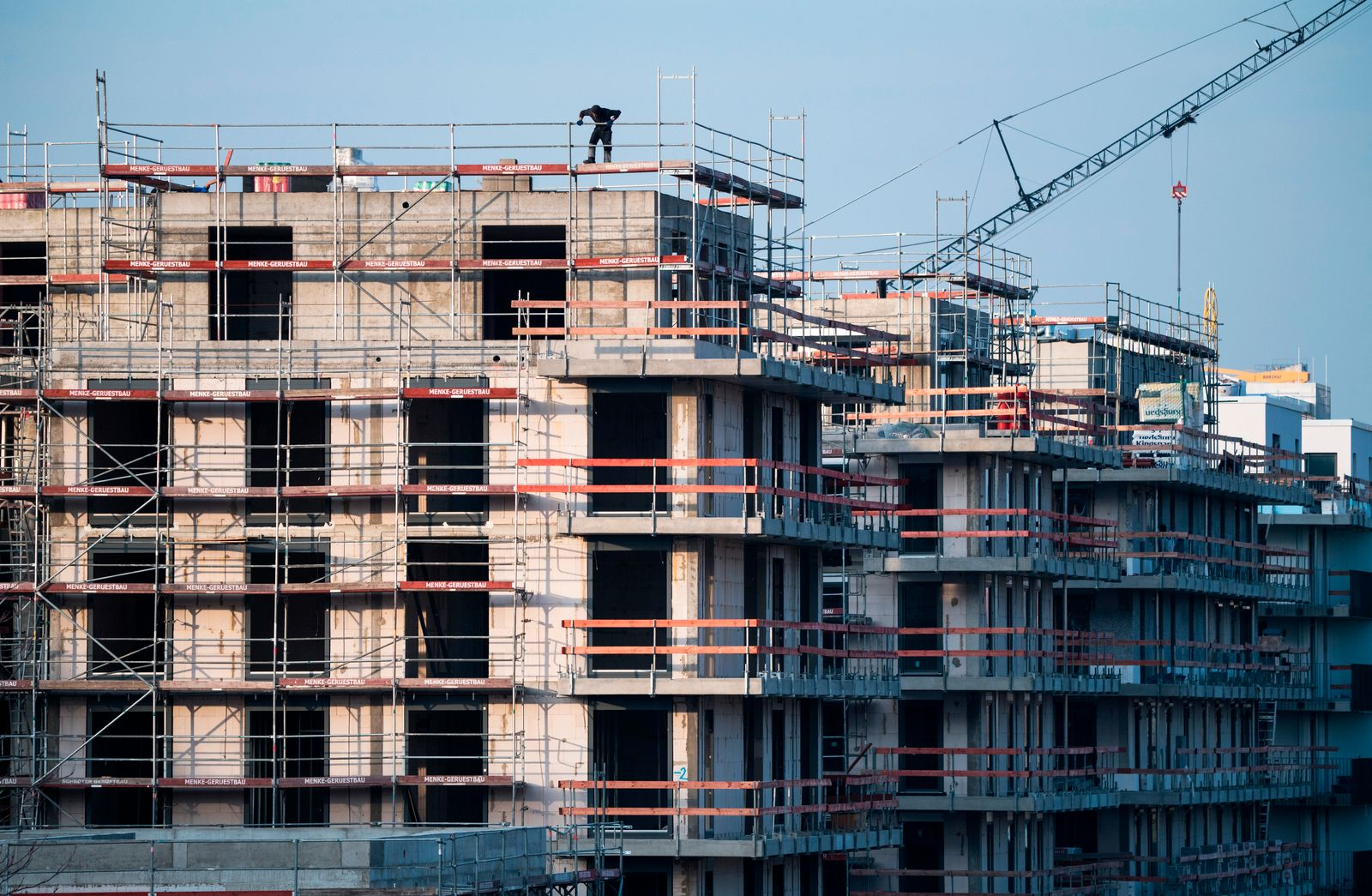 Wohnungsbau / Bauindustrie / Baustelle / Bau