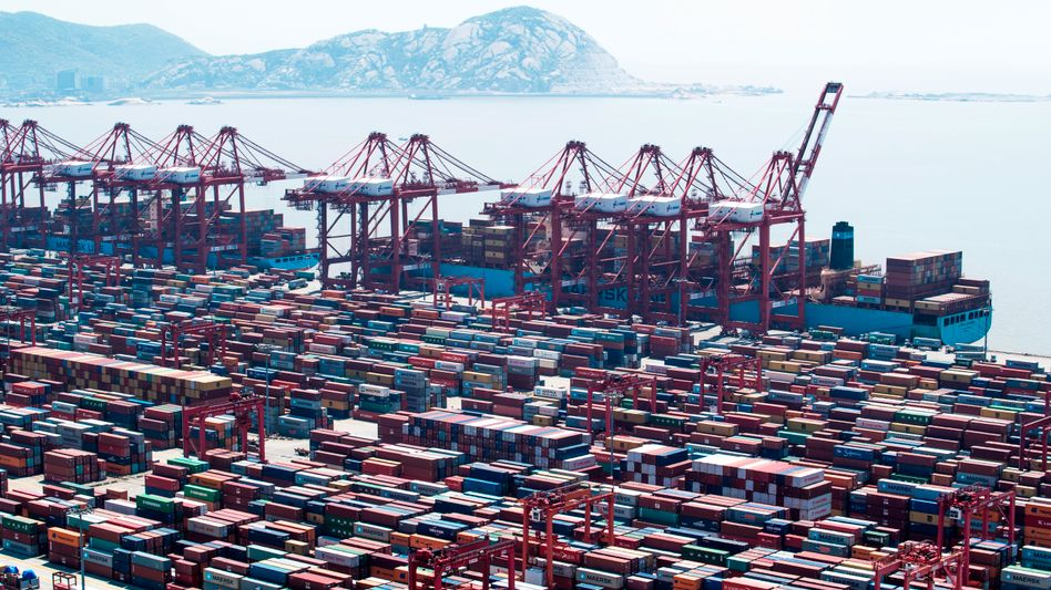 Hafen in Shanghai: Der Handelskonflikt zwischen China und den USA eskaliert