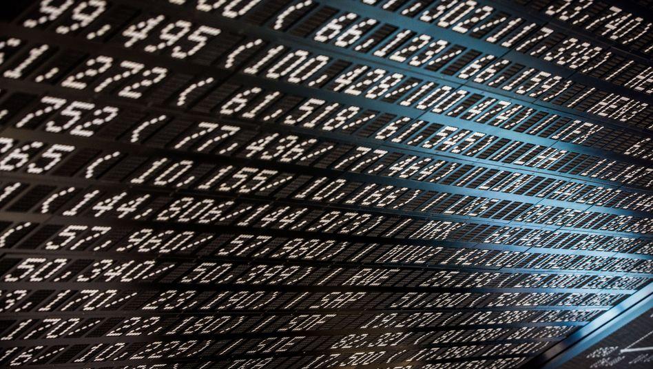 Kurstafel an der Frankfurter Börse: Der Dax ist auf Erholungskurs