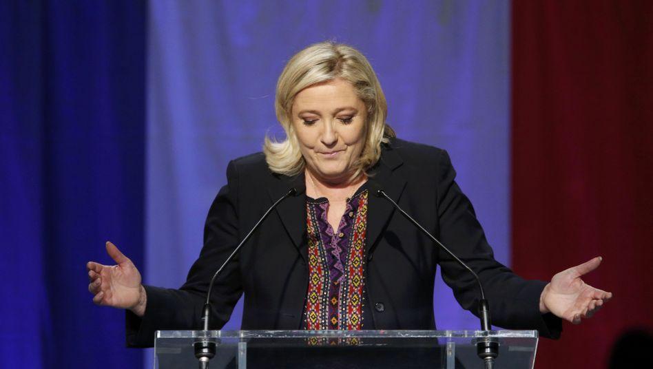 Das war wohl nichts: Marine Le Pen musste mit der Front National im zweiten Wahlgang eine Niederlage einstecken