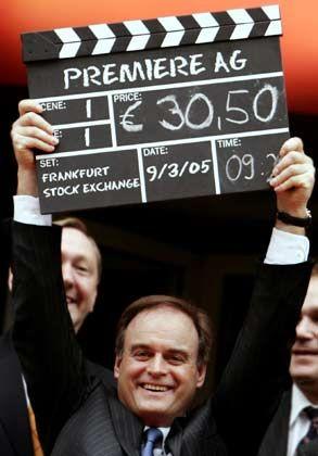 9. März 2005: An diesem Tag war die Premiere-Welt des Georg Kofler noch in Takt. Die Aktie startete deutlich über dem Ausgabepreis von 28 Euro. Am Mittwoch war sie nicht einmal mehr die Hälfte wert