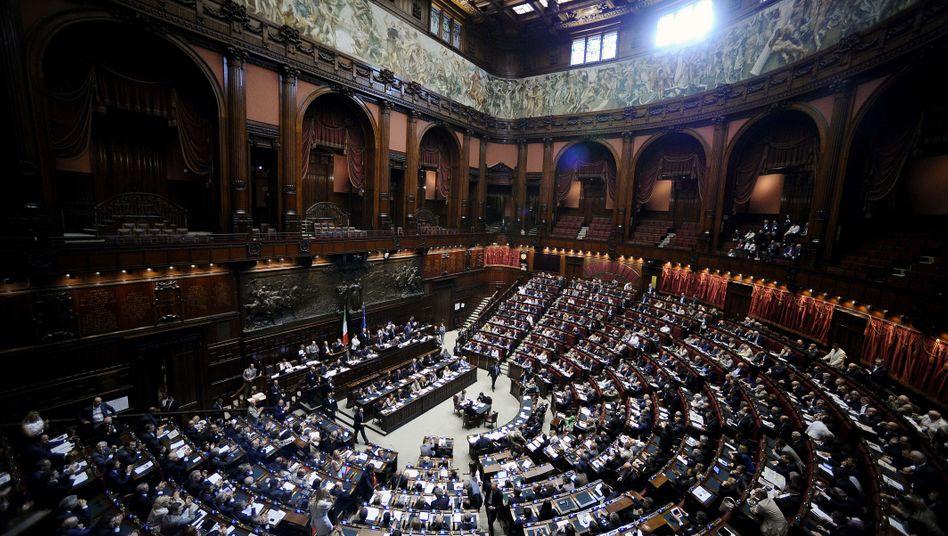 Parlament in Rom: Bis Samstag sollen die Reformpläne verabschiedet sein
