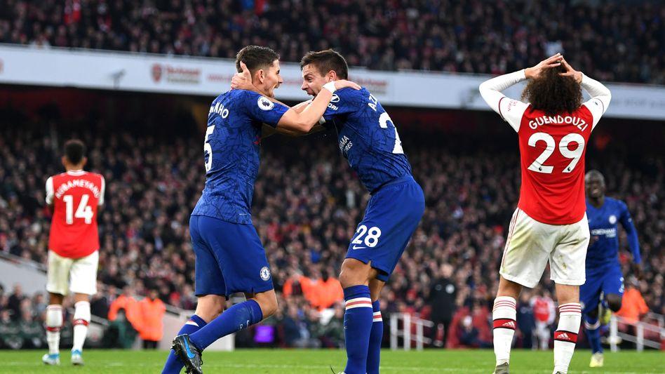 Premier-League-Spiel zwischen Chelsea (blau) und Arsenal (Archivaufnahme, Dezember 2019)