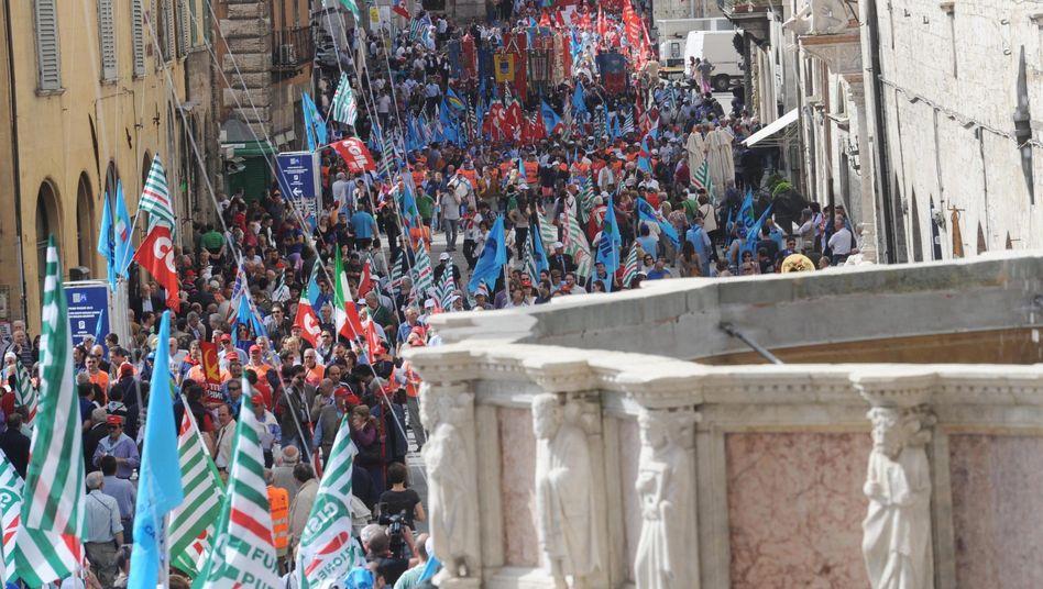 Proteste zum 1.Mai: Italien leidet unter hoher Arbeitslosigkeit