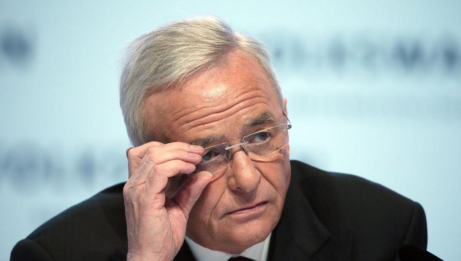 VW-Chef Martin Winterkorn: Konnte gestern Abend sein Entsetzen über die Aussagen von Daimler-Vorstand Bernhard nur schwer kaschieren