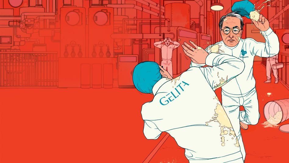 Schmutzige Schlacht: Beim Gelatinehersteller Gelita bekämpfen sich Mehrheitsaktionär Philipp (vorn) und Minderheitsaktionär Peter Koepff seit Jahren aufs Schmierigste