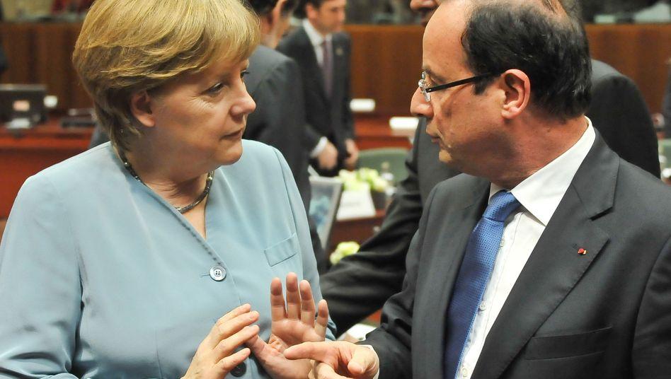 Merkel vs. Hollande: Die deutsch-französische Achse funktioniert nicht mehr so gut wie mit Sarkozy