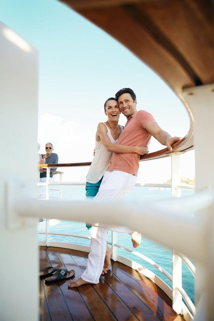 Die Passagiere auf Kreuzfahrtschiffen werden wieder etwas jünger - 50,1 Jahre alt sind sie im Durchschnitt.