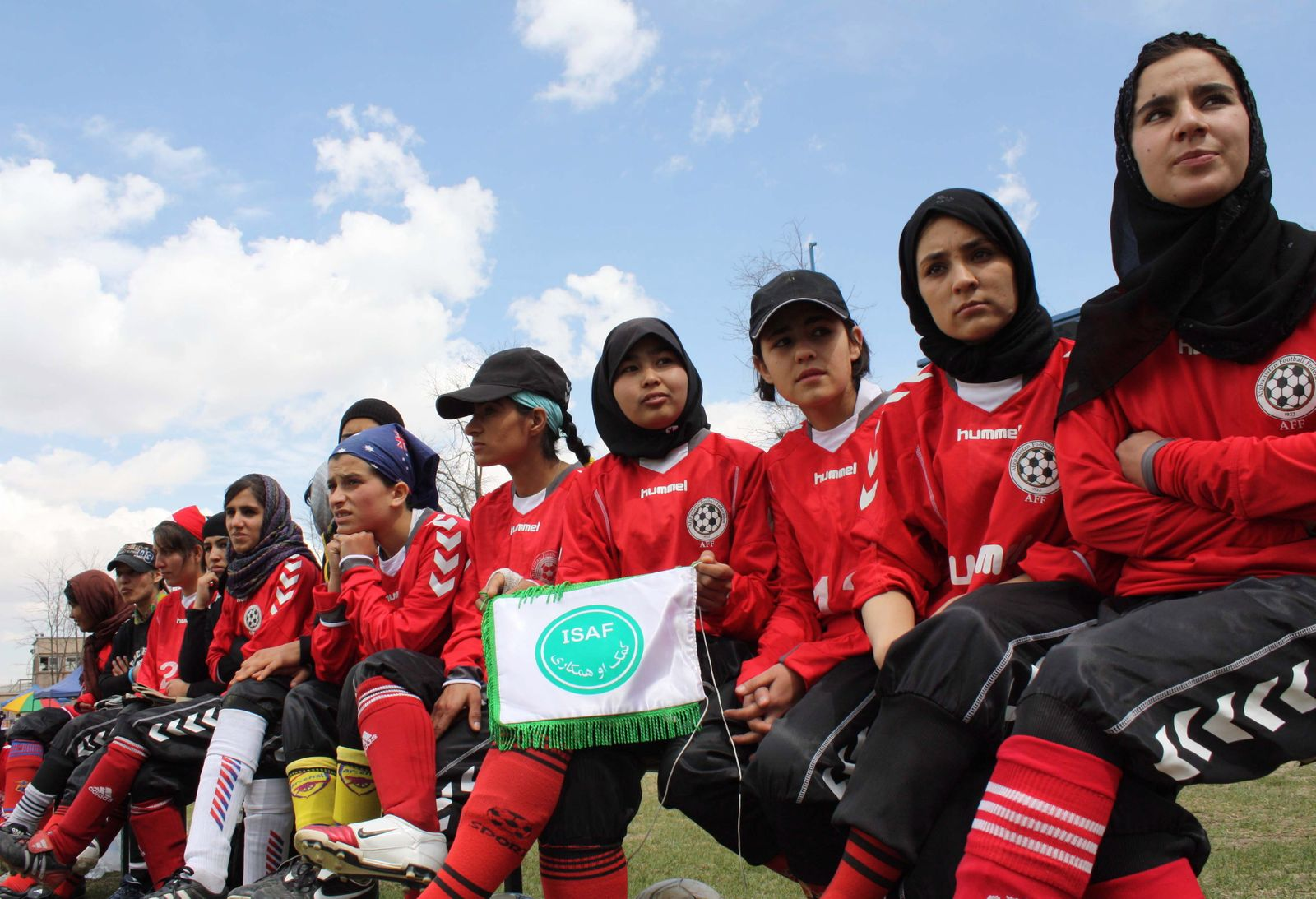 Friendly soccer match between Afghan women soccer team and ISAF