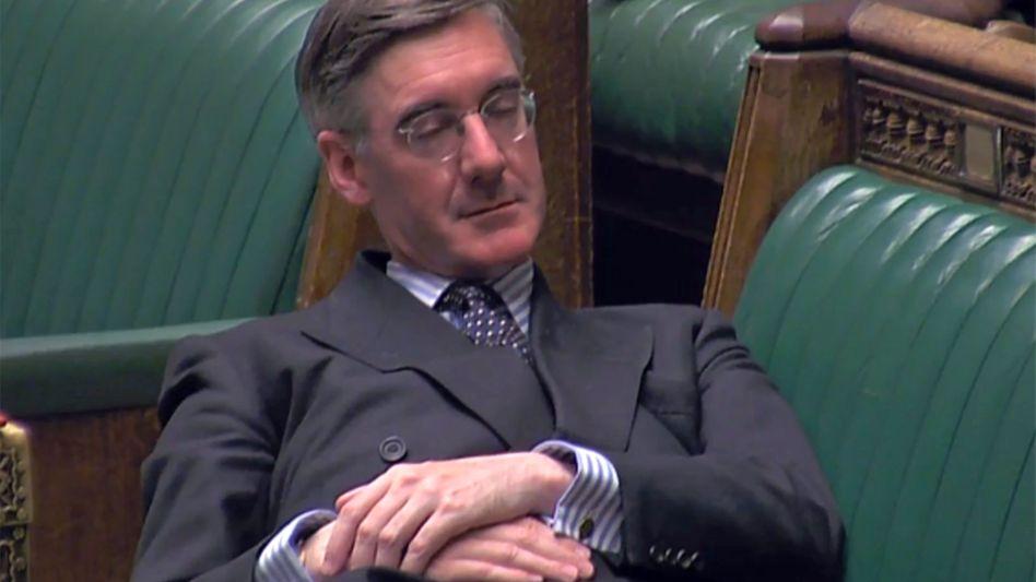 Brexit-Fan Jacob Rees-Mogg: Provokation im Plenarsaal - mit eindeutigem Echo