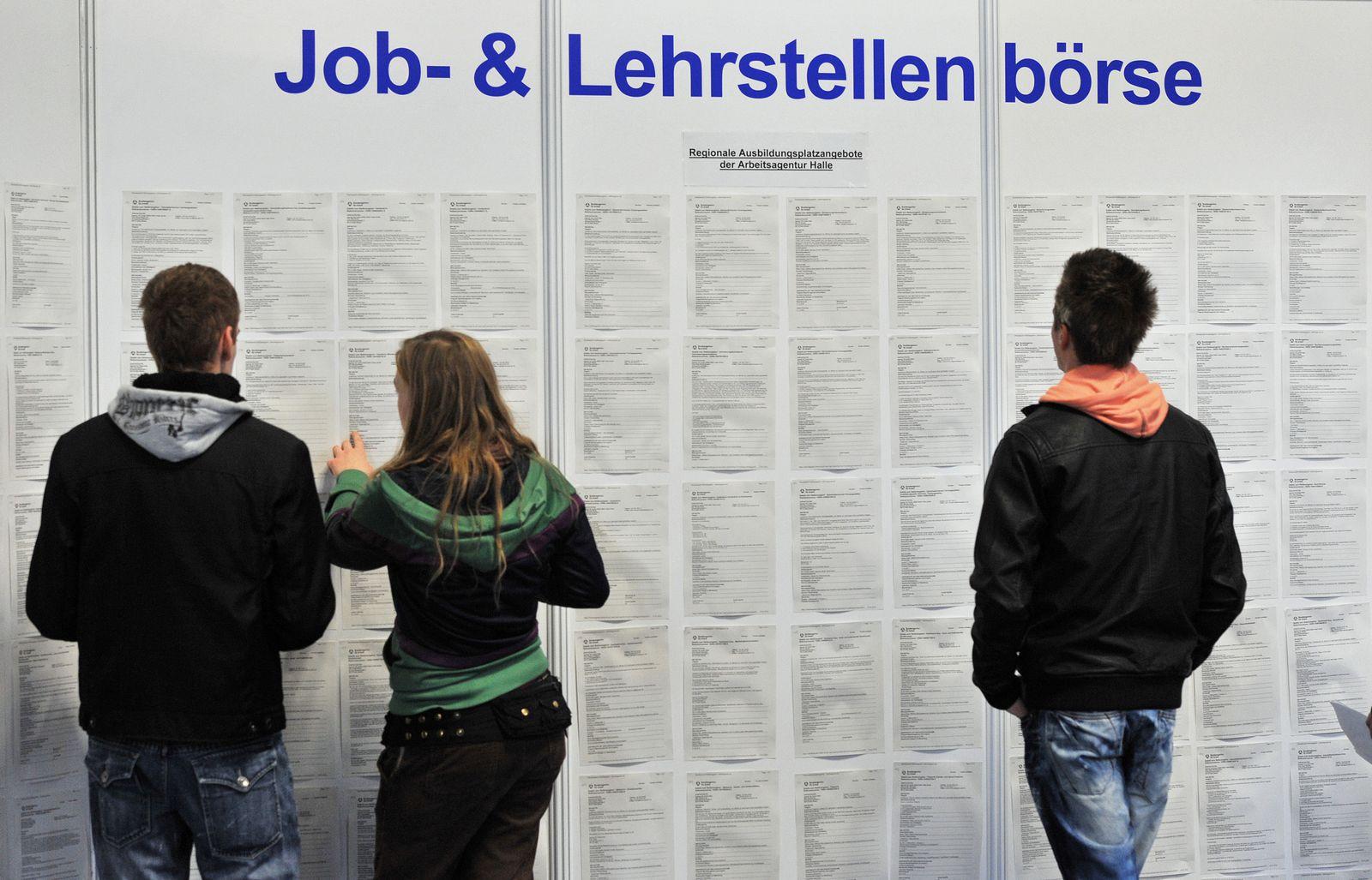 Jugendarbeitslosigkeit / Jobbörse