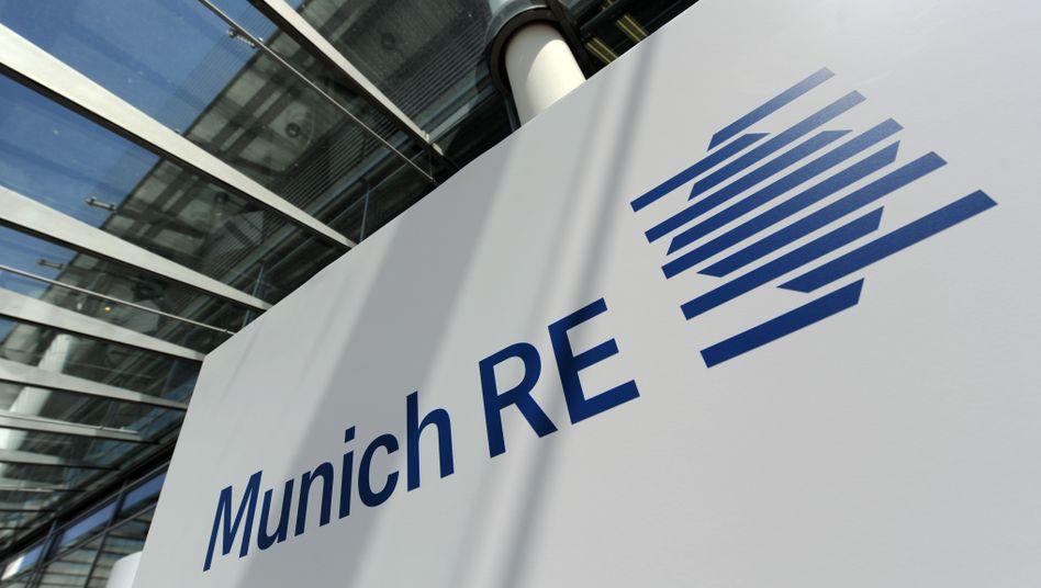 Das Logo der Rückversicherung in München