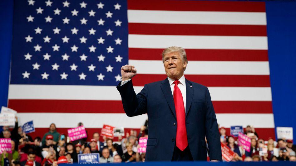 Kämpferisch: US-Präsident Donald Trump im Wahlkampfmodus