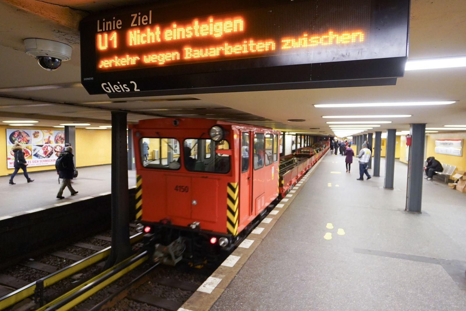 U-Bahn-Linien U2 und U3 in Berlin sind unterbrochen