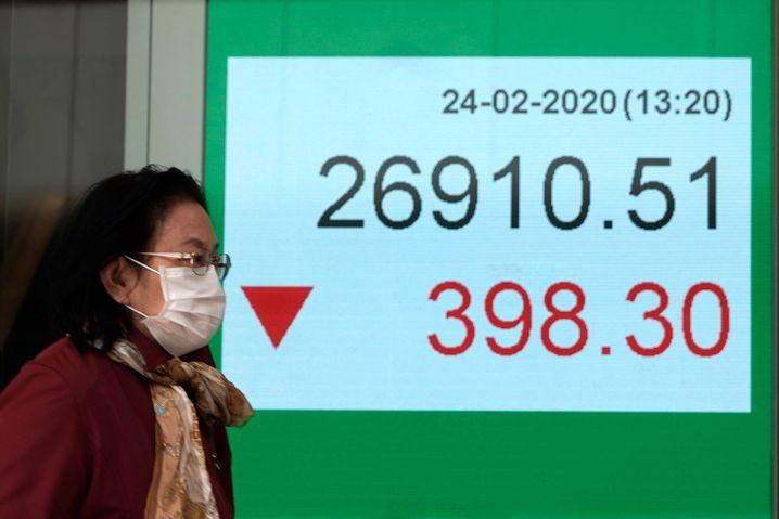 Die Börsen in Asien stehen wegen des Coronavirus unter Druck