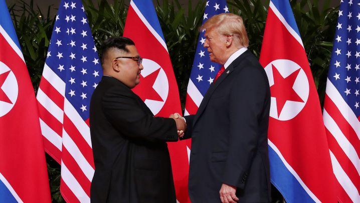 Trump und Kim in Singapur: Mit dem Diktator über den roten Teppich