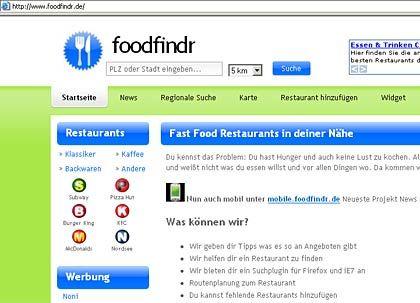 Foodfindr.de: Schnelles Essen, schnell gefunden