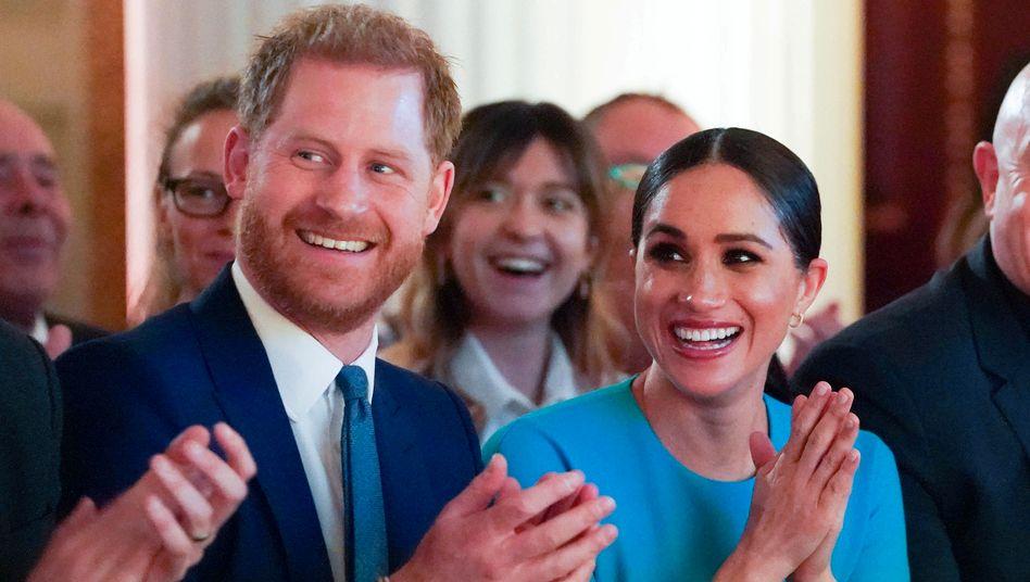 Sprechen statt Klatschen: Großbritanniens Herzog Harry und seine Frau Meghan produzieren für Spotify künftig Podcasts, die sie teils auch selbst einsprechen wollen