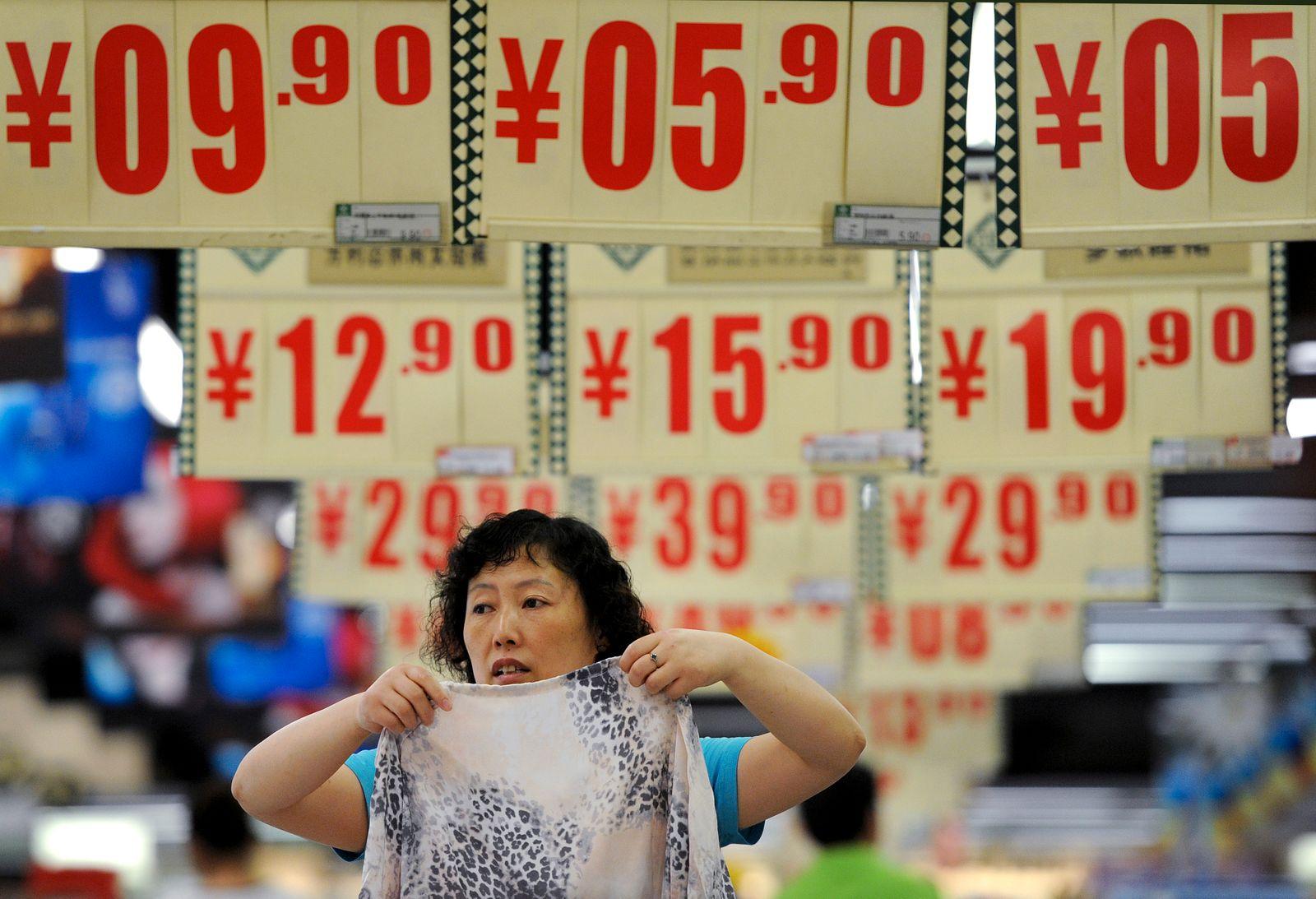 Preisschilder Supermarkt China