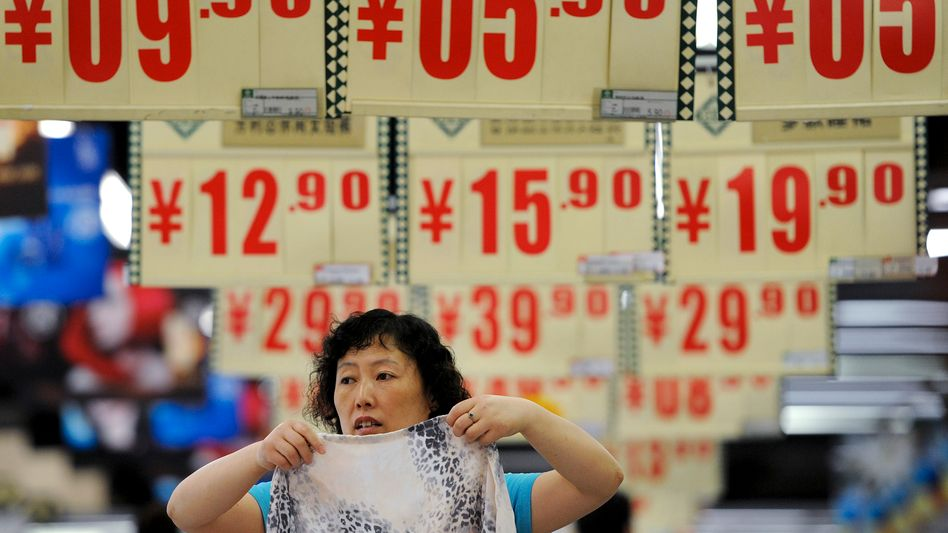 Supermarkt in China: Künftig sollen Kunden mit volkseigenem Digitalgeld bezahlen können