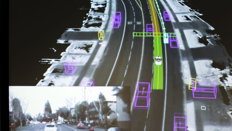 Google self-driving car im Testbetrieb