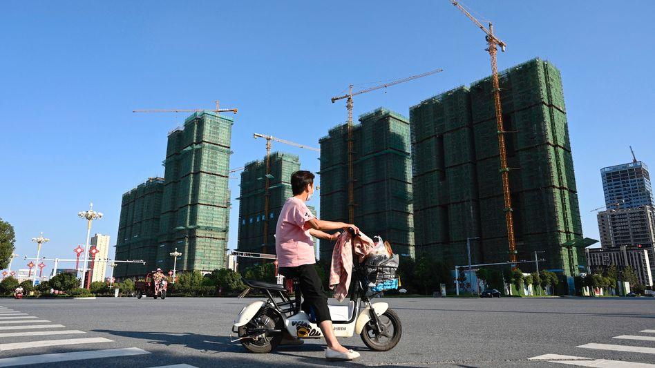 Baustelle: Ein Gebäudekompplex von Evergrande in Zhumadian, Zentralchina.