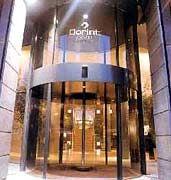 Der Eingang des Dorint Hotels in Brüssel