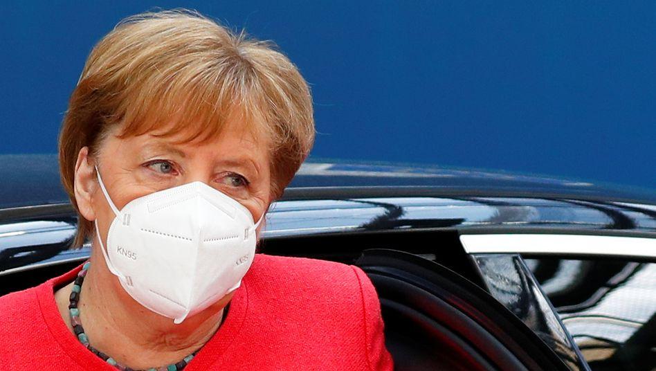 Bundeskanzlerin Merkel beim Gipfel in Brüssel