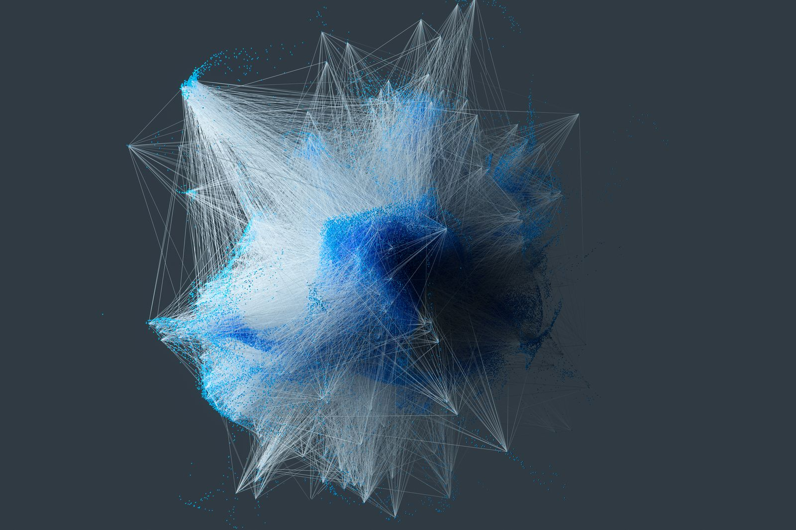 Particle connection network