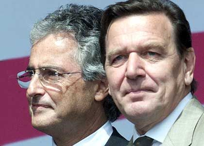 Ron Sommer und Bundeskanzler Schröder