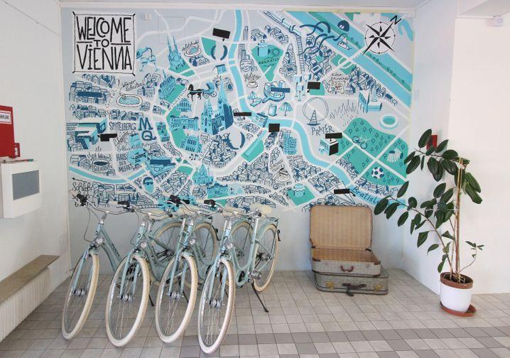 """Im """"Hotel Magdas"""" gibt es Leihfahrräder für die Gäste."""