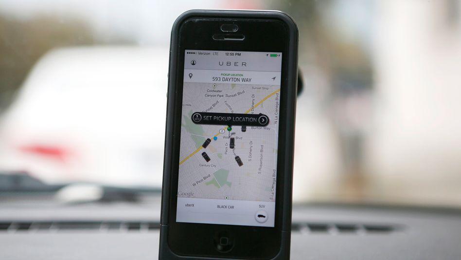 App des Fahrdienstes Uber: Wer kann mich mitnehmen?