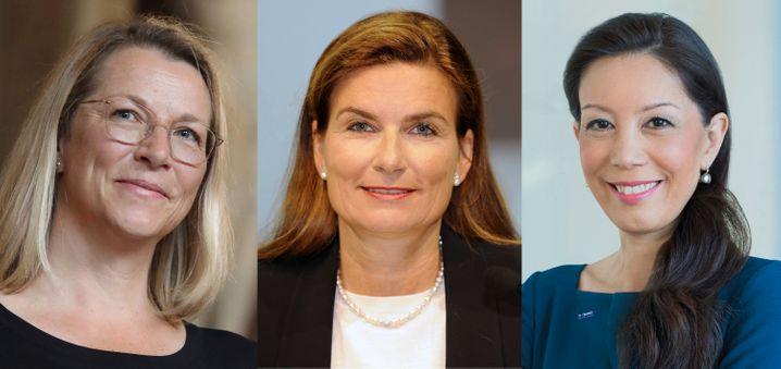 Die innere Ungeduld der Frauen: Die Wirtschaftsexpertinnen Christine Bortenlänger, Ann-Kristin Achleitner und Saori Dubourg fordern einen raschen Politikwechsel.