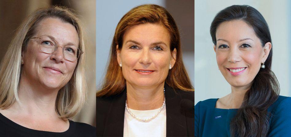 Klare Thesen: Christine Bortenlänger, Ann-Kristin Achleitner, Saori Dubourg (v.l.) melden sich kurz vor der Bundestagswahl zu Wort