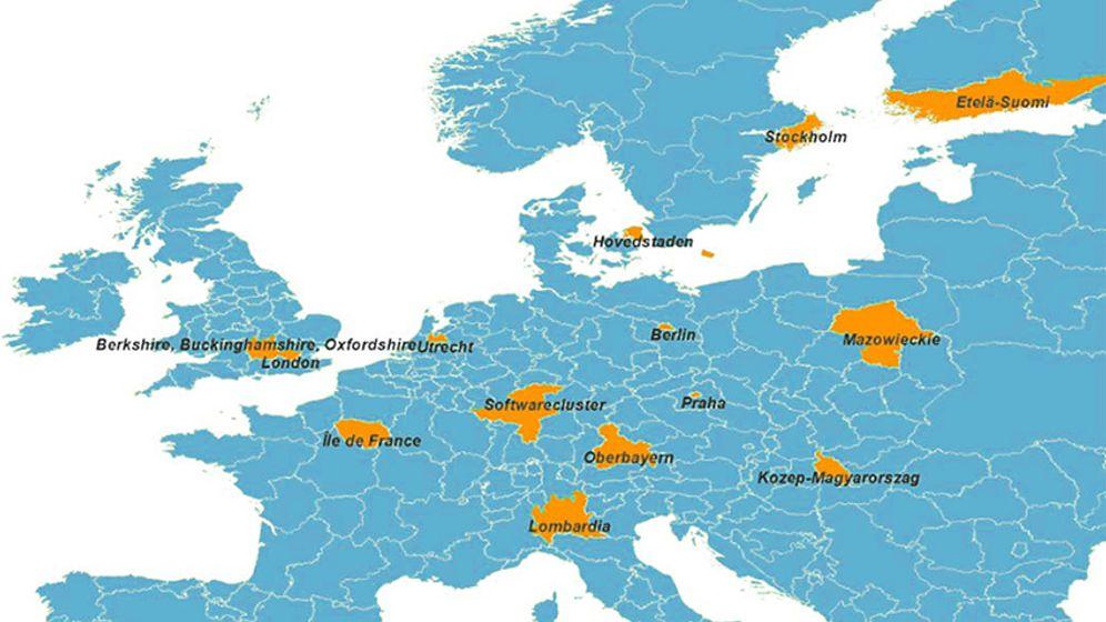 Softwarecluster-Studie: Europas Silicon Valleys im Vergleich
