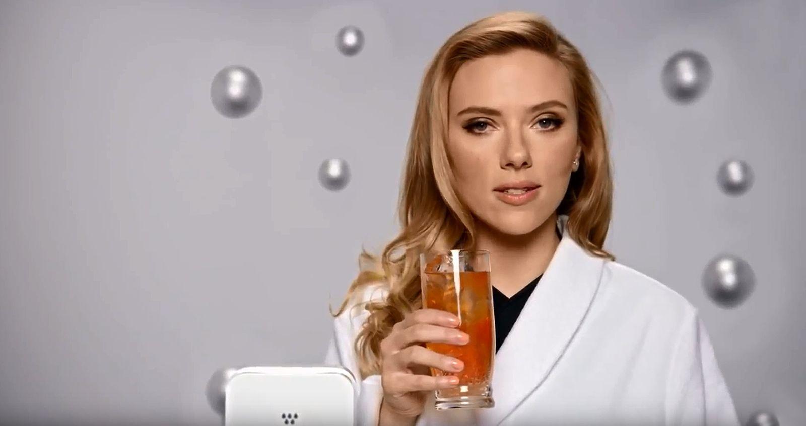 EINMALIGE VERWENDUNG SCREENSHOT youtube SodaStream Scarlett Johansson / Super Bowl 20