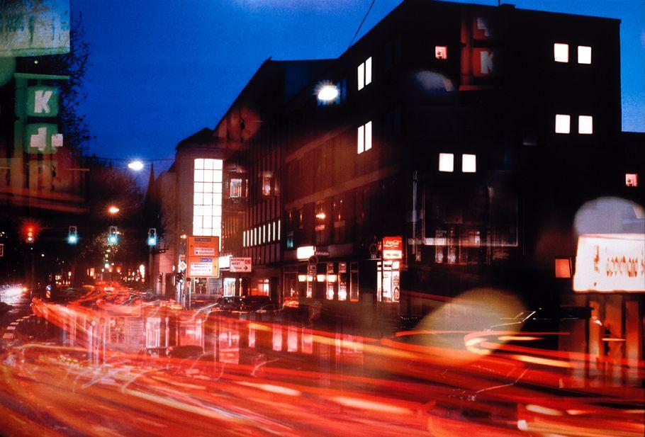 NICHT MEHR VERWENDEN! - Bochum / Nachtaufnahme / Straße / Verkehr / Lichter / Autos