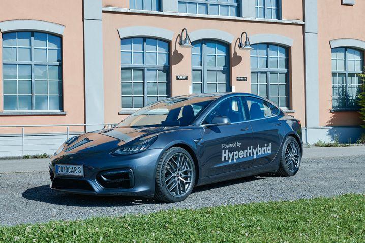 Innovation aus Österreich: Die Firma Obrist hat ein Tesla Model 3 umgerüstet