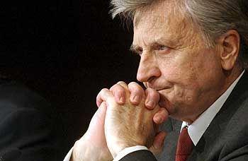 Betont gelassen: EZB-Chef Trichet zeigt sich ungerührt und schiebt damit den Euro weiter an