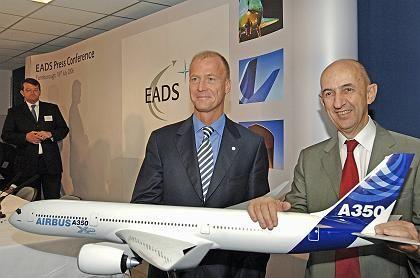 EADS-Doppelspitze: Thomas Enders, Louis Gallois (r.)
