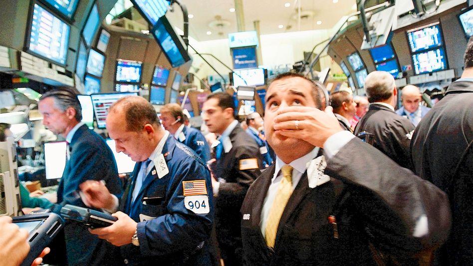 Händler an der Wall Street: Bankentitel vorneweg
