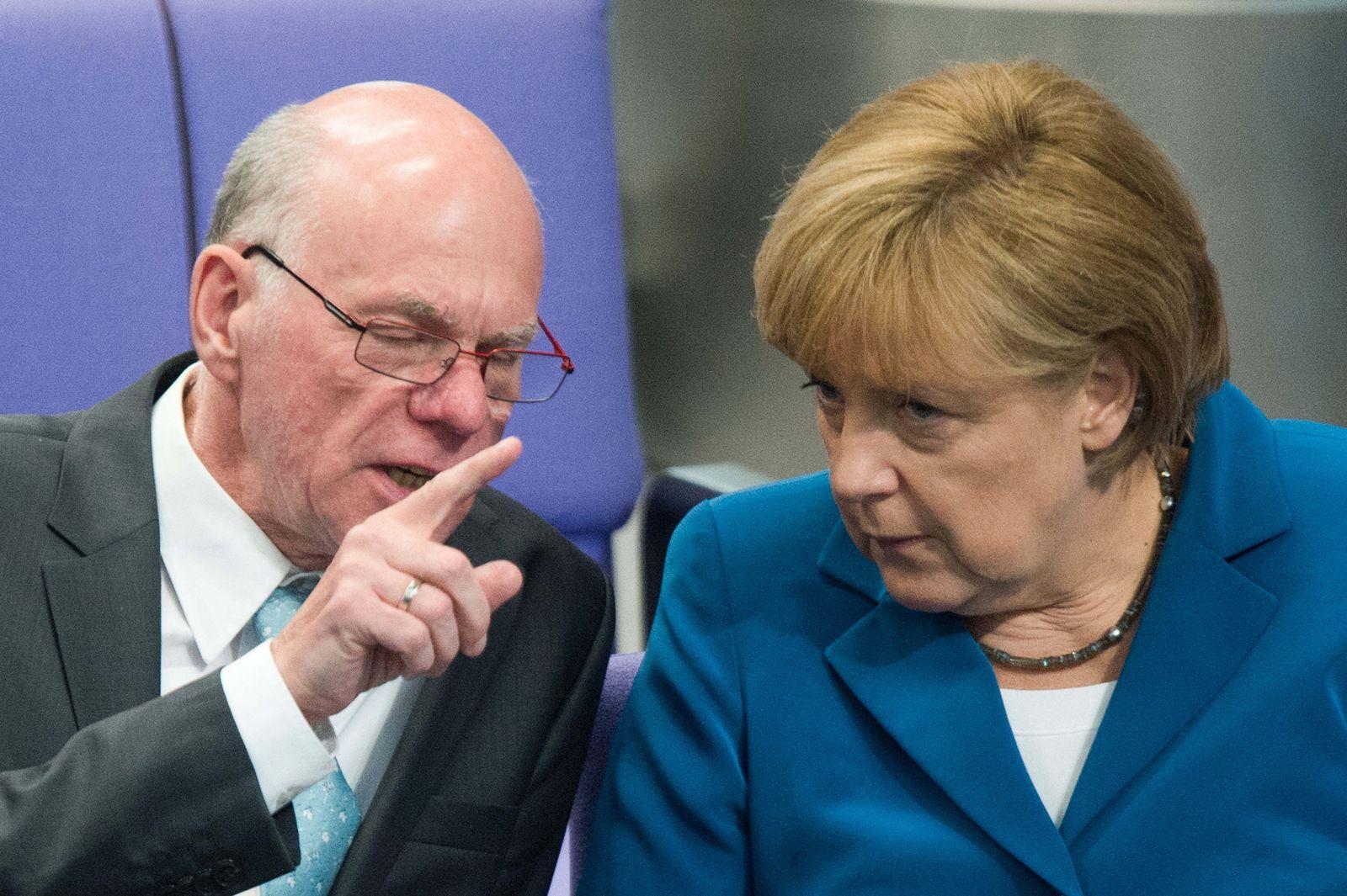 Bundestag / Merkel Lammert