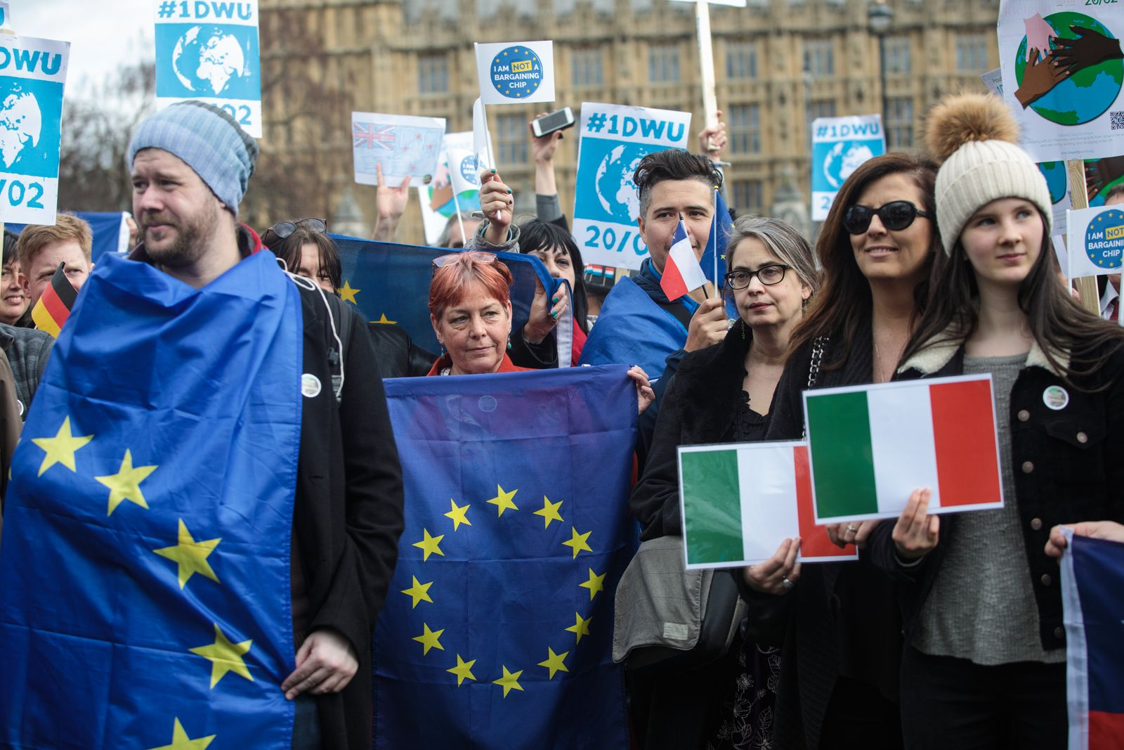One Day Without Them Demonstration Takes Place In Westminster