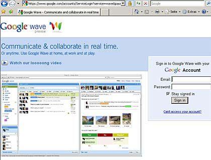 Google Wave: Das Echtzeit-Tool schlägt hohe Wellen