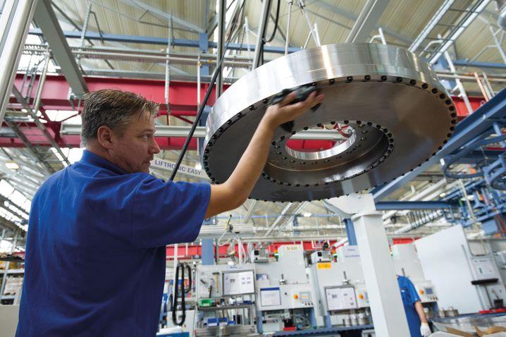 Produktion beim weltgrößten Bremstechnik-Hersteller Knorr-Bremse